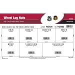 Wheel Lug Nuts Assortment (SAE Fine Thread & Metric Thread)