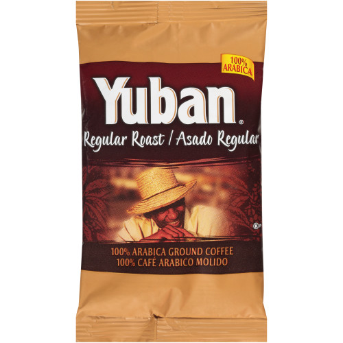YUBAN Regular Roast & Ground Coffee, 2 oz. Bags (Pack of 192)