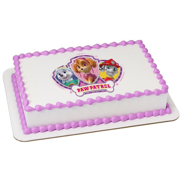 PAW Patrol™ Skye, Everest, & Marshall PhotoCake® Edible Image®