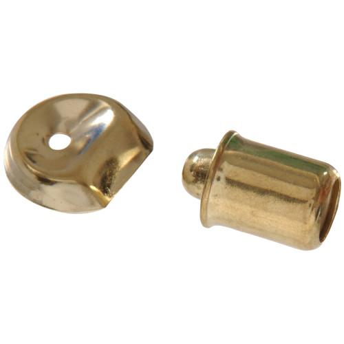 Hardware Essentials Steel/Brass Plated Bullet Catch