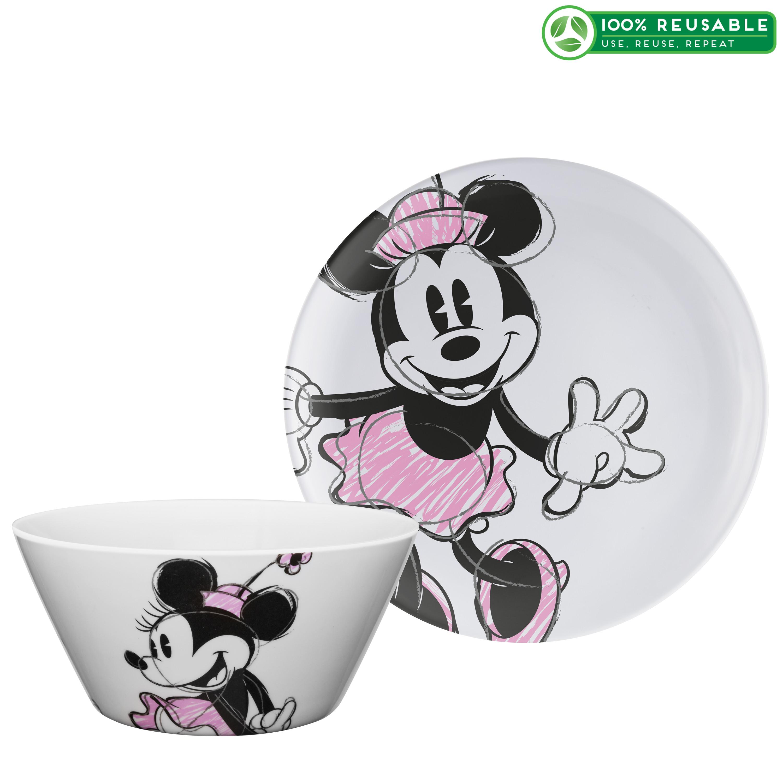 Disney Dinnerware Set, Minnie Mouse, 2-piece set slideshow image 1