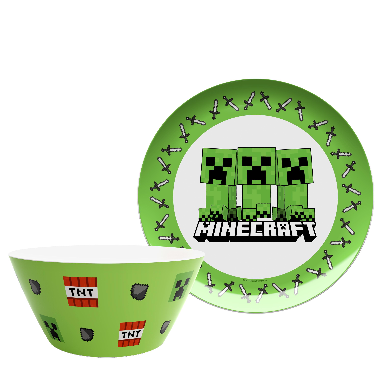 Minecraft Dinnerware Set, Creeper, 2-piece set slideshow image 1