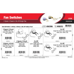 Fan Switches Assortment (2-Speed & On-Off Single Pole)