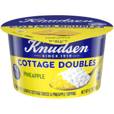 Knudsen Cottage Cheese Doubles Pineapple Topping 4.7 oz Cup