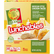 Lunchables Around The World Mexican Style Chicken Tacos 4.2 oz Tray
