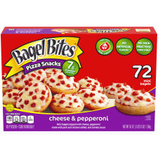 Bagel Bites Cheese & Pepperoni Mini Bagels, 72 count Box