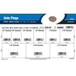 "Nickel-Plated Hole Plugs Assortment (1/2"" Thru 1-1/2"" Diameters)"