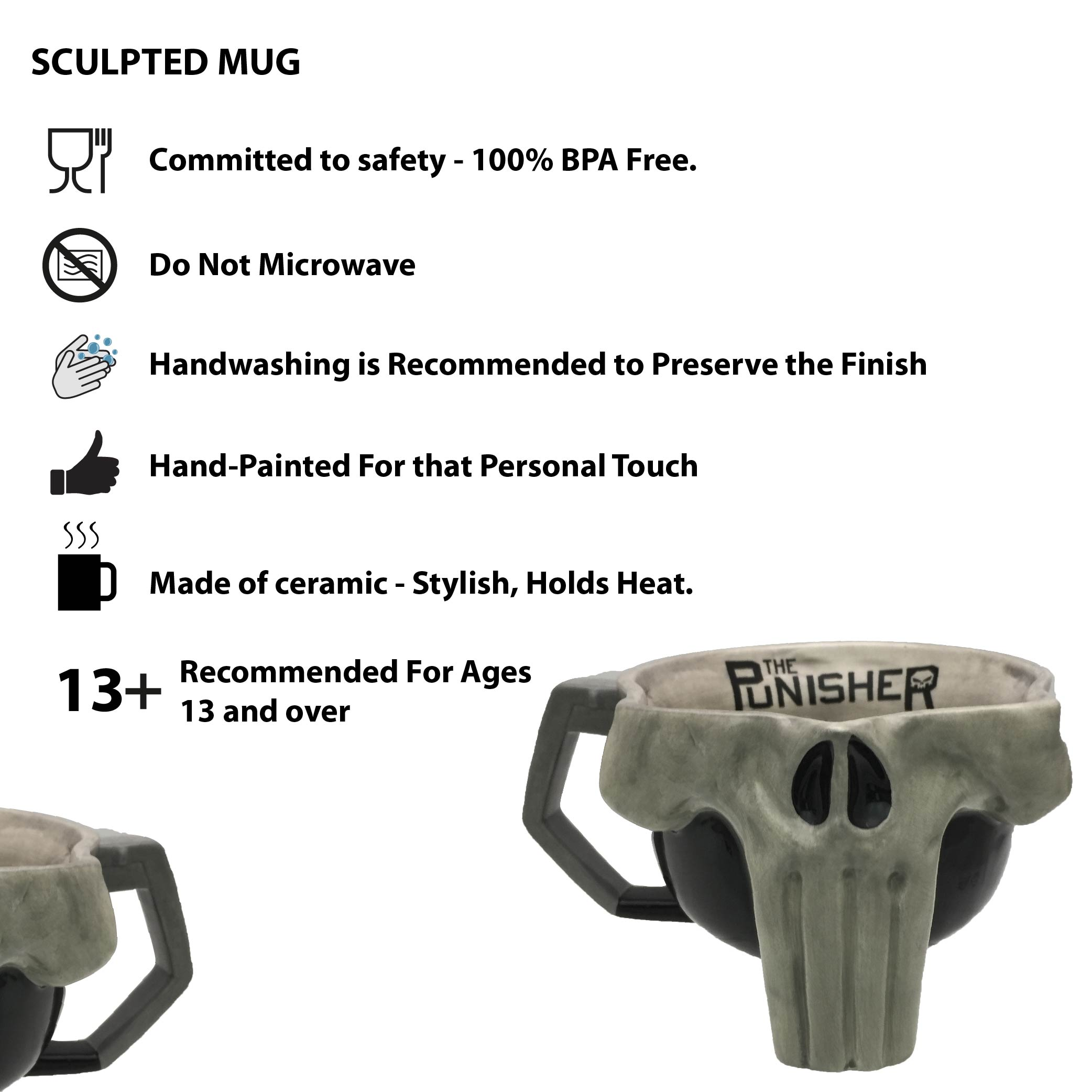 Marvel Comics 17 ounce Coffee Mug, The Punisher slideshow image 5