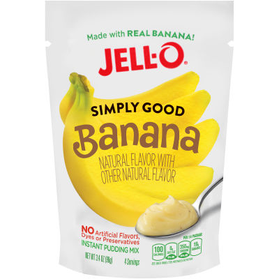 Jell-O Simply Good Banana Pudding 3.4 oz Pouch