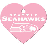 Seattle Seahawks Pink Large Heart Quick-Tag