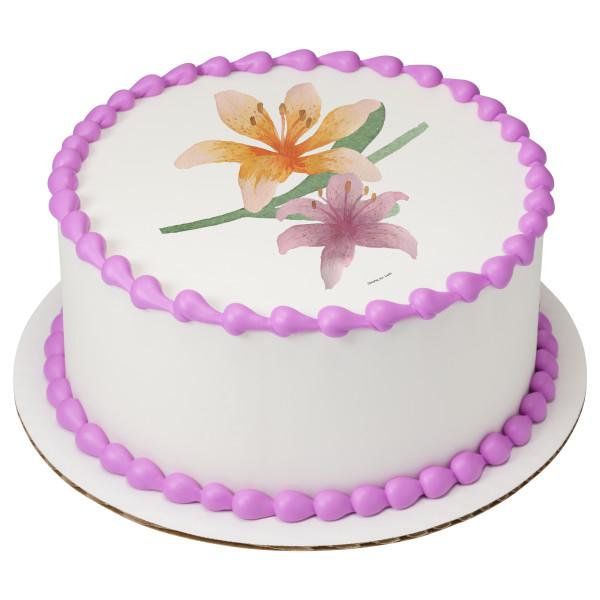 Watercolor Easter Lily PhotoCake® Edible Image®