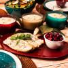 Confetti Dinner Plate, Salad Plate and Bowl Dinnerware Set, Peacock, 12-piece set slideshow image 12
