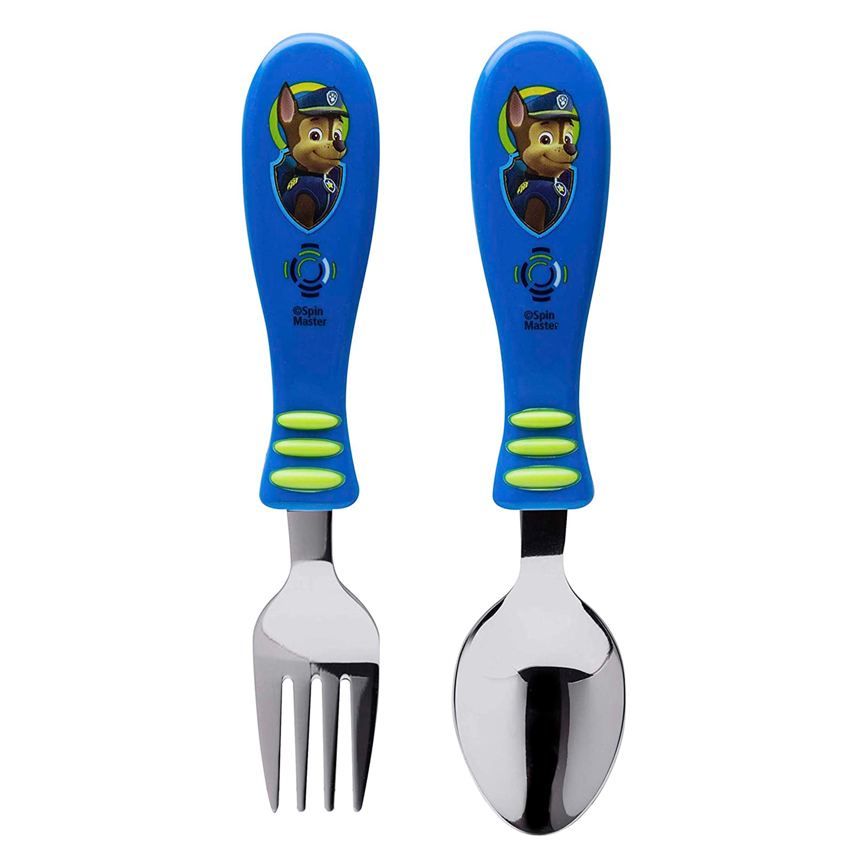 Paw Patrol Kids Fork and Spoon Set, Chase, 2-piece set slideshow image 3