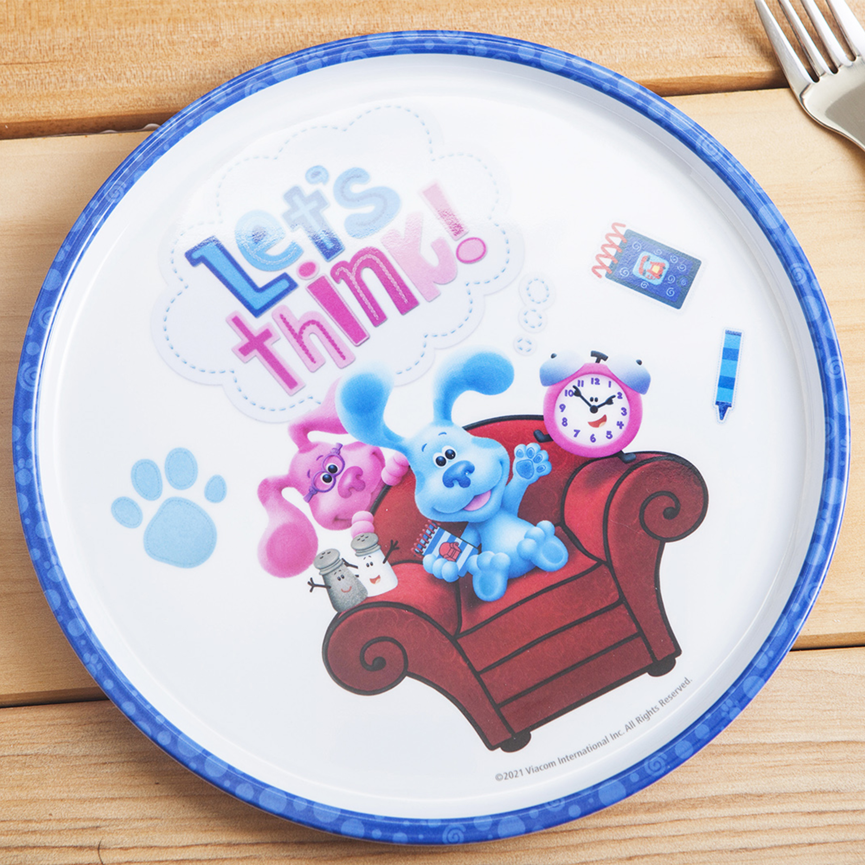 Blues Clues and You Kids Dinner Set, Blue and Friends, 5-piece set slideshow image 9