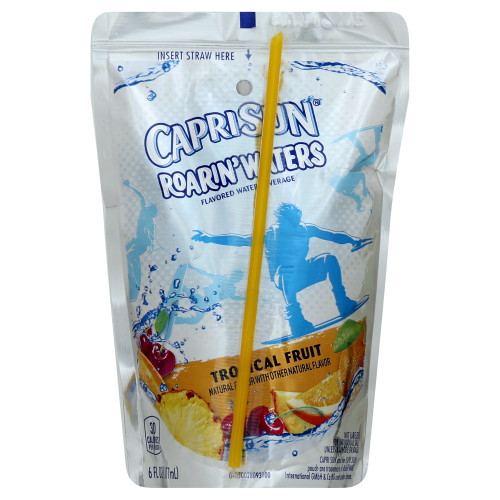 CAPRI SUN Tropical Fruit Pouch, 6 oz. Pouches (Pack of 40)
