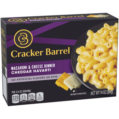 Cracker Barrel Cheddar Havarti Macaroni & Cheese 14 oz Box