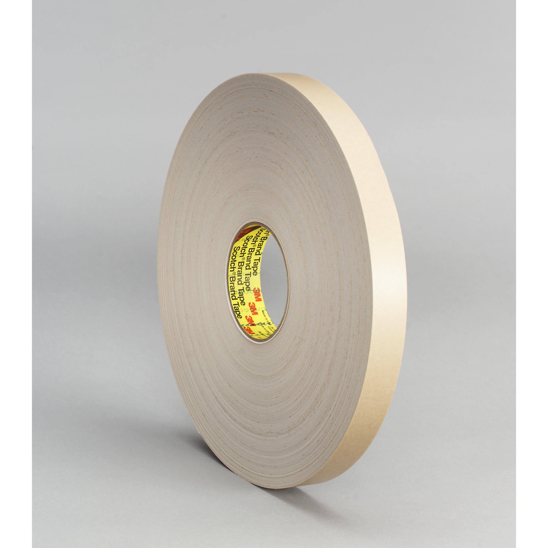 3M™ Double Coated Polyethylene Foam Tape 4492W, White, 1 in x 72 yd, 31 mil, 9 rolls per case