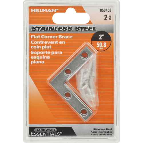 Hardware Essentials Flat Corner Iron Stainless Steel 2