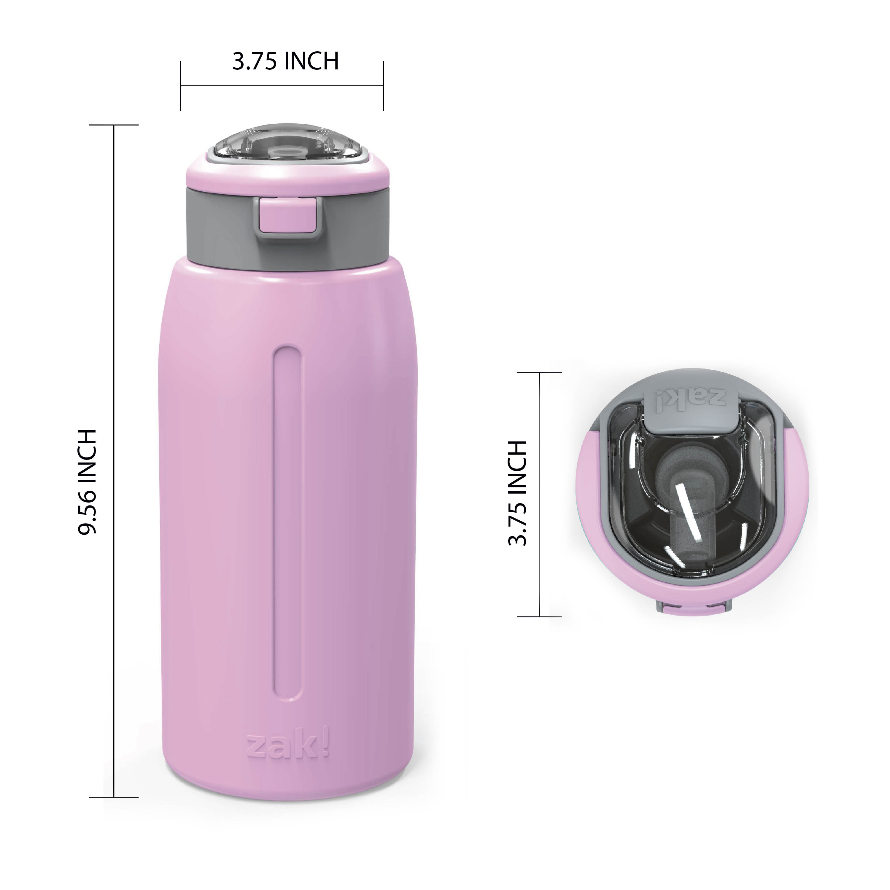 Genesis 32 ounce Stainless Steel Water Bottles, Lilac slideshow image 6