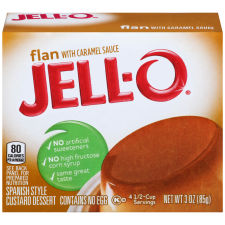 Jell-O Flan with Caramel Sauce 18 - 3 oz Boxes