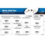 Plastic & Metal Metric Shelf Pins Assortment (Fits 5mm Hole)
