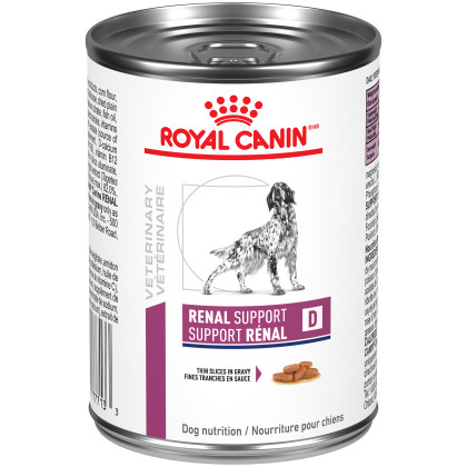 Royal Canin Veterinary Diet Canine Renal Support D Thin Slices in Gravy Canned Dog Food