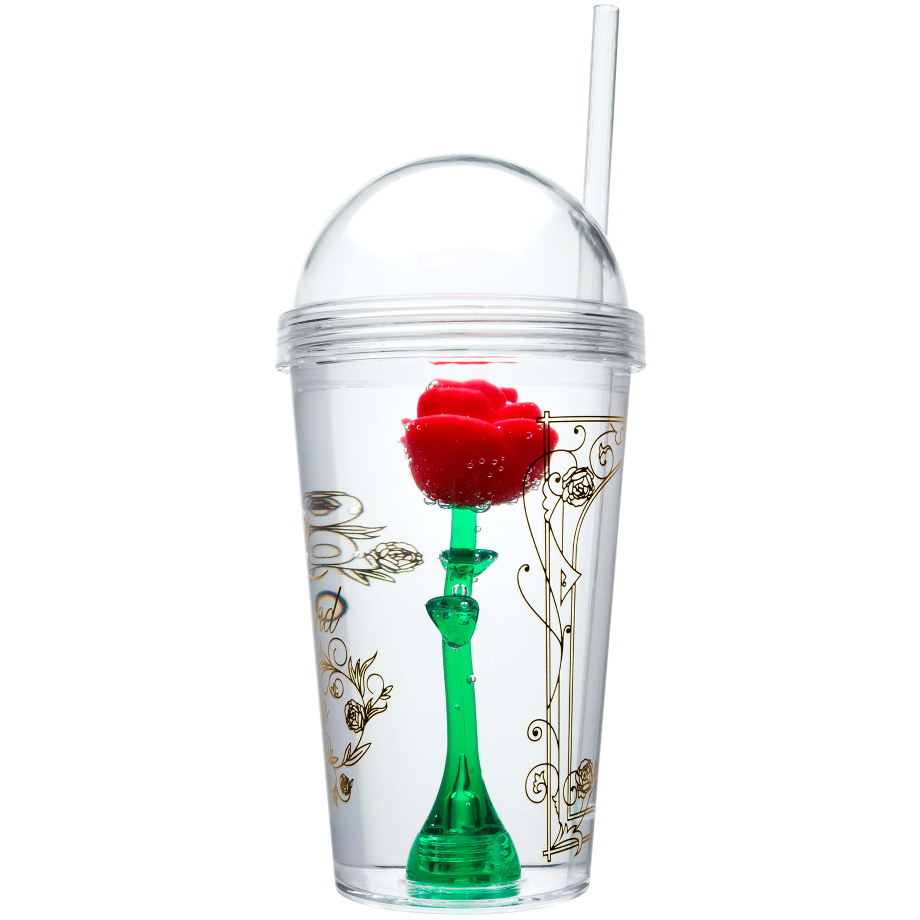 Beauty And The Beast 22 ounce Kid's Tumbler, Enchanted Rose slideshow image 4