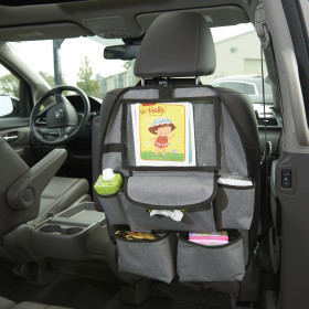 Universal Deluxe Car Backseat Organizer With Clear Pocket