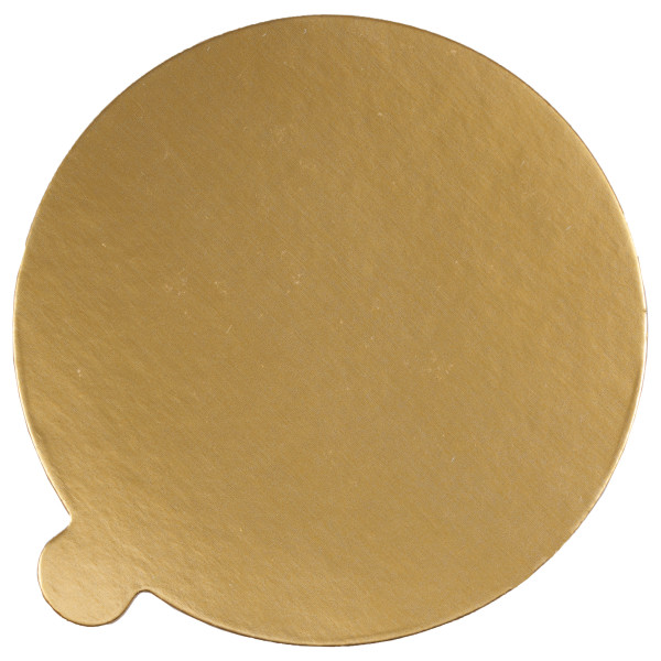 "5"" Round Black/Gold Reversible Waxed Corrugated Cake Board"