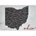 "Ohio Counties Novelty Sign (10"" x 14"")"