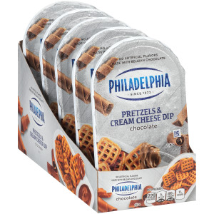 PHILADELPHIA Pretzels & Chocolate Cream Cheese Dip, 2.53 oz. Tray (Pack of 10) image