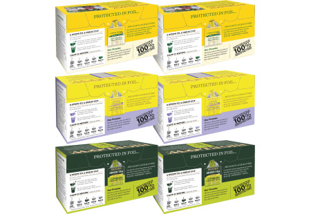 Back Panels of Mixed Case of Probiotic Teas - 6 boxes