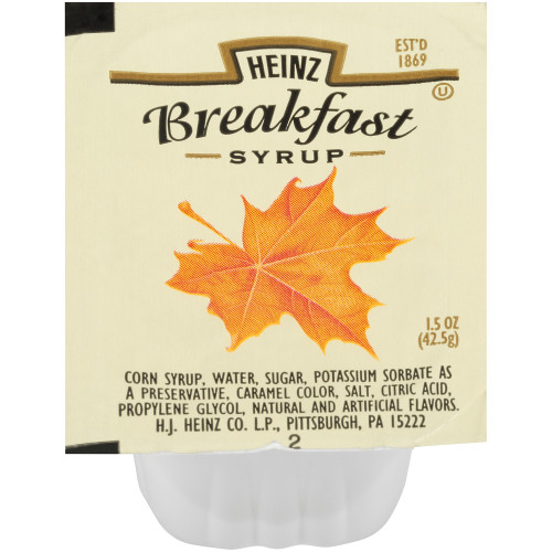 HEINZ Single Serve Syrup, 1.5 oz. Cups (Pack of 100)