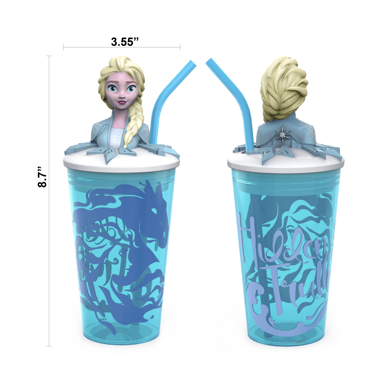 Disney Frozen 2 Movie 15 ounce Kid's Tumbler, Anna and Elsa, 2-piece set slideshow image 7