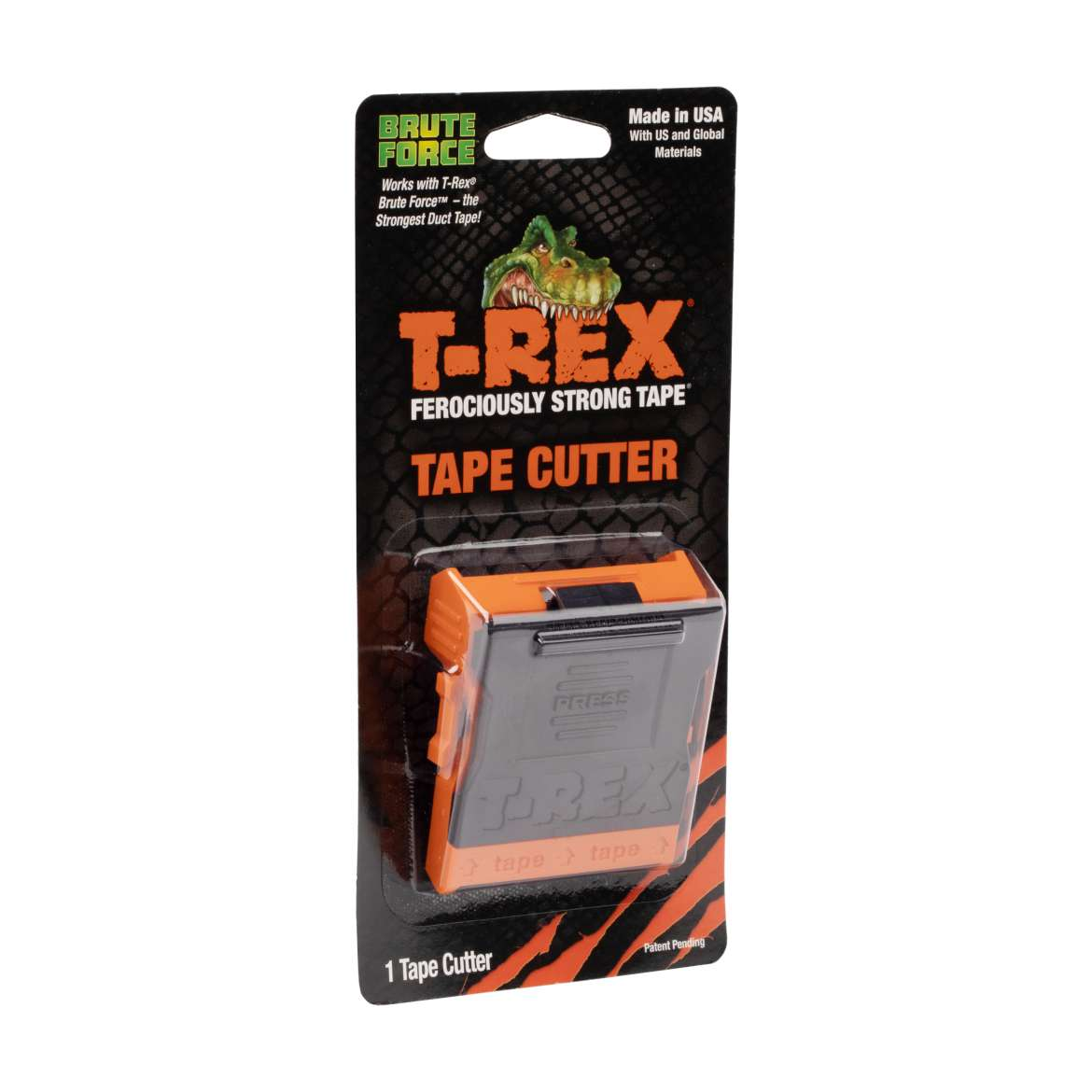 T-Rex® Tape Cutter - Gray and Orange, 48 mm.