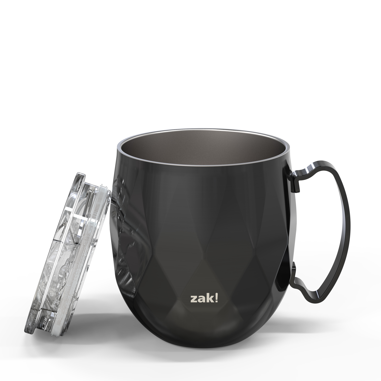 Fractal 19 ounce Vacuum Insulated Stainless Steel Mule Mug, Black slideshow image 4