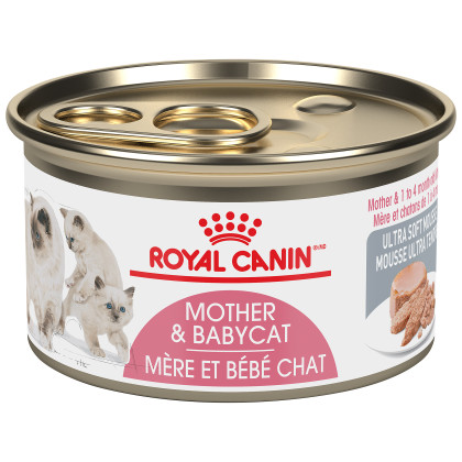 Royal Canin Feline Health Nutrition Mother & Babycat Ultra Soft Mousse Canned Cat Food