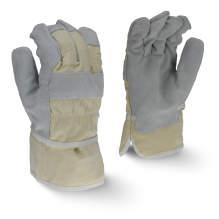 Radians RWG3200W Regular Shoulder Gray Split Cowhide Leather Glove