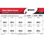 Phillips Flat-Head Black Chromate Sheet Metal Screws Assortment (#12 & #14)