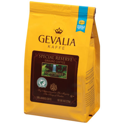 Gevalia Rainforest Organic Regular Ground Coffee 8 oz Bag