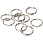 Quick-Tag Nickel Split Rings (12mm)