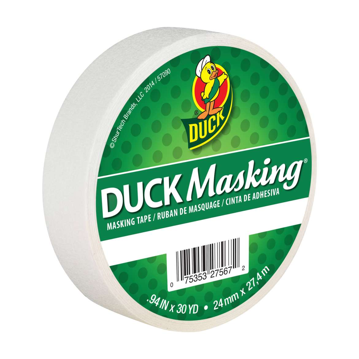 Duck Masking® Color Masking Tape - White, .94 in. x 30 yd. Image