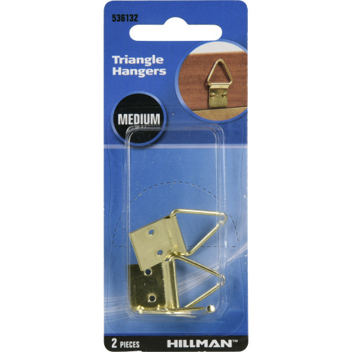 Hillman Large Brass Triangle Ring Hanger