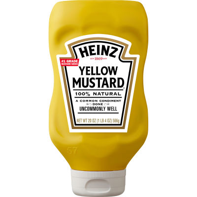 Heinz Yellow Mustard 20 oz Bottle