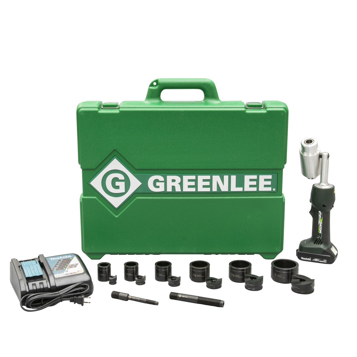 "Greenlee LS50L11B Battery-Powered Knockout Punch Driver Kit w/ Punches & Dies, 1/2"" - 2"""