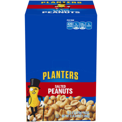 Planters Salted Peanuts 15 - 2.5 oz Bags