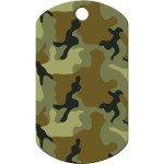 Green Camo Large Military ID Quick-Tag