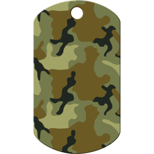 Green Camo Large Military ID Quick-Tag 5 Pack