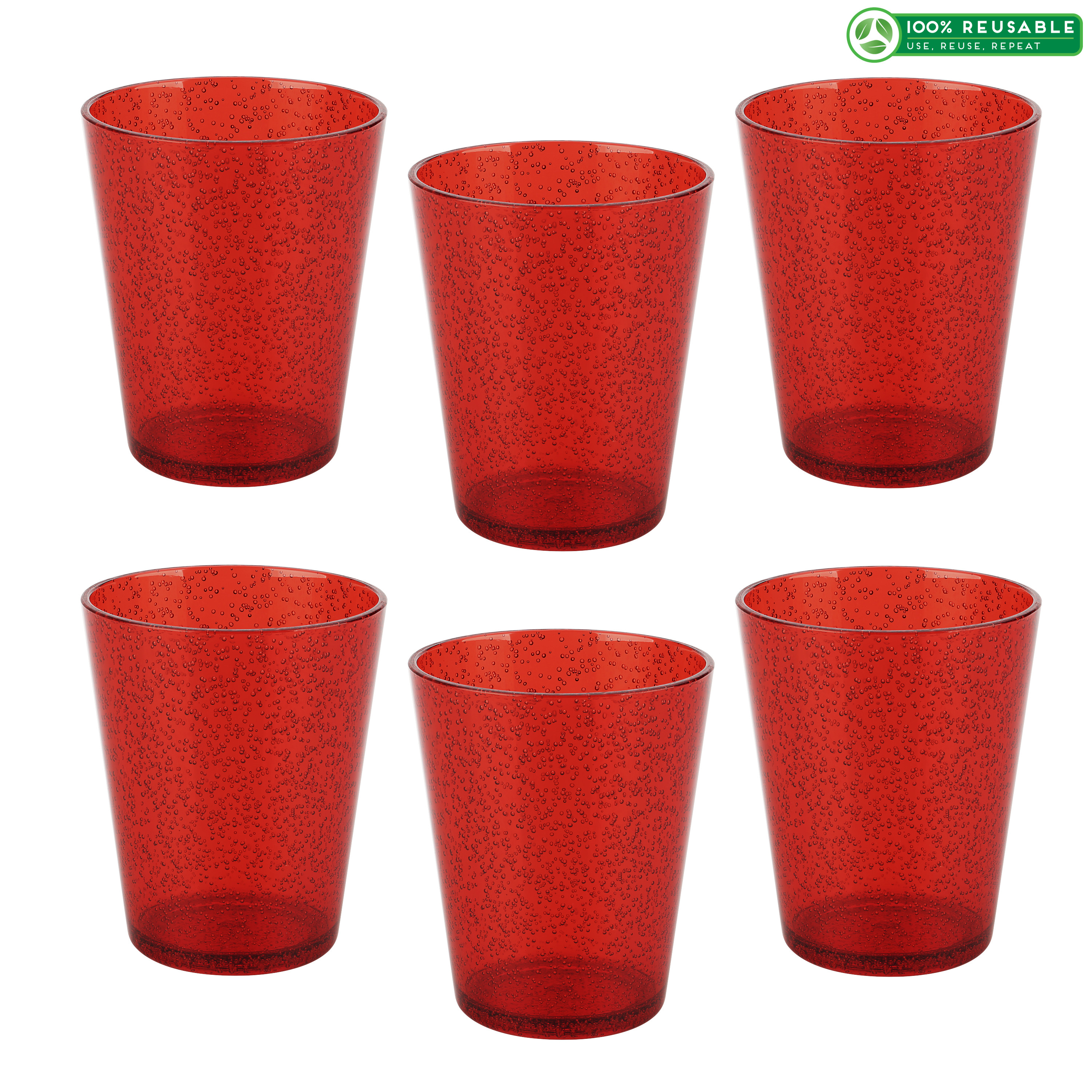 Spritz 16 ounce Old-Fashion Glass, Red slideshow image 1