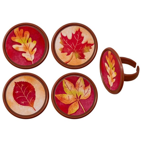 Fall Leaves Cupcake Rings